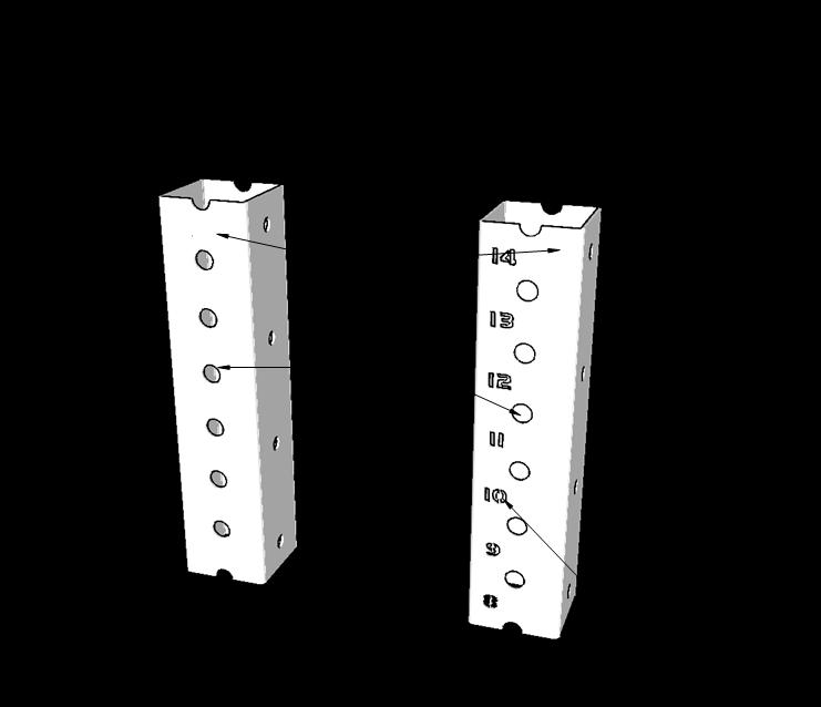 перфорация и нумерация стоек для кроссфита (кроссфит станция)